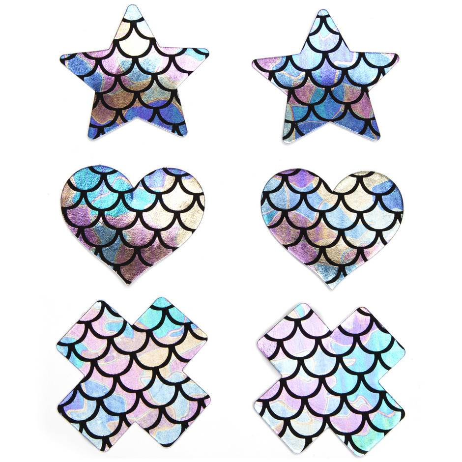 Mermaid Sparkle Nipple Pasties (3 pack)