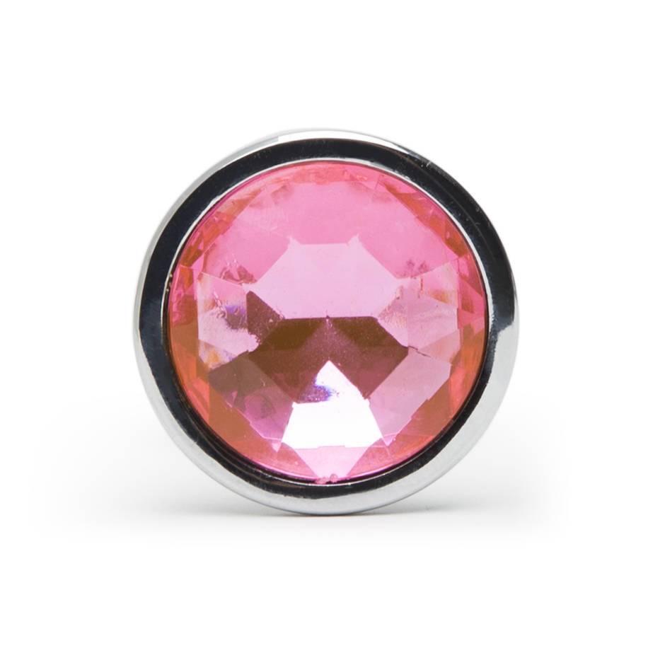 Luxgem Beginners Metal Butt Plug With Pink Jewel 25 Inch -5597