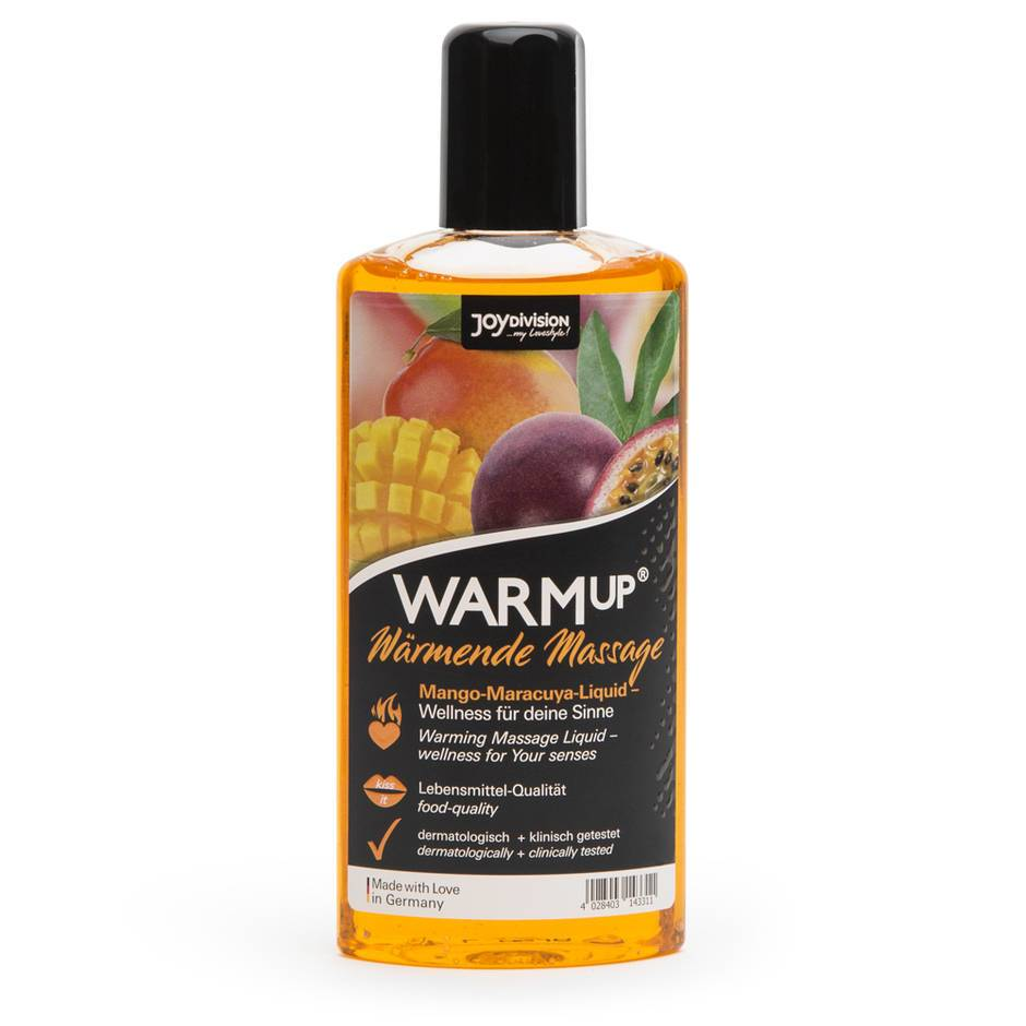 Warming Mango and Passion Fruit Flavoured Massage Lubricant 150ml