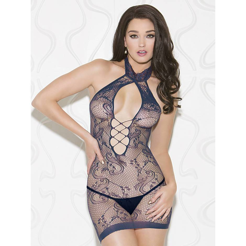 iCollection Criss-Cross Halterneck Chemise