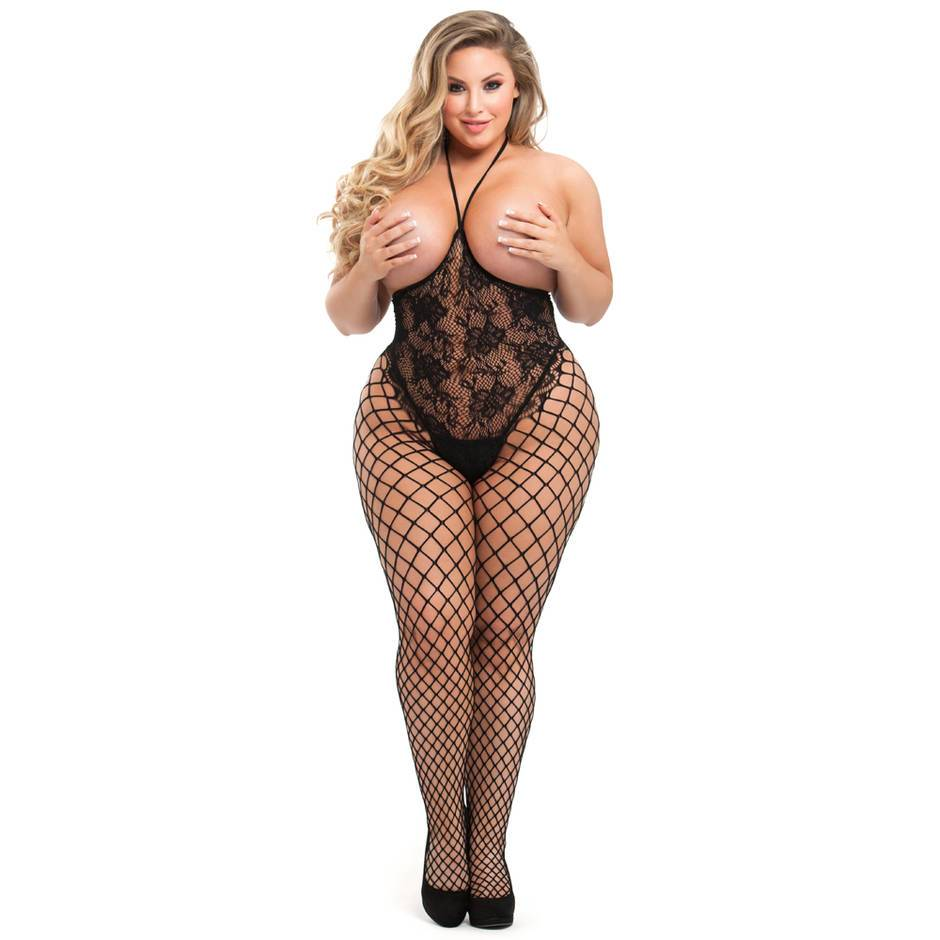 Lovehoney Plus Size Treasure Chest Fishnet Crotchless Bodystocking