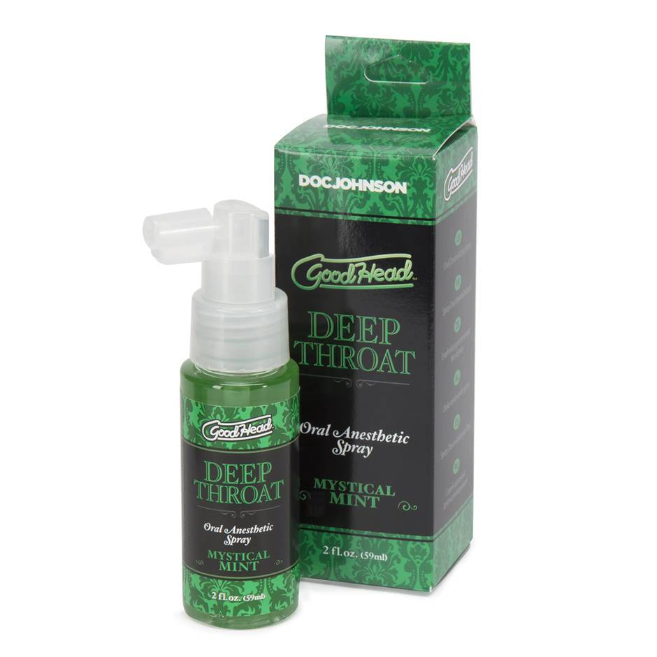 Doc Johnson Good Head Deep Throat Mint Oral Anesthetic Spray 2 fl oz