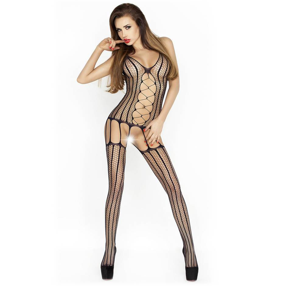 Passion Black Fishnet Suspender Bodystocking