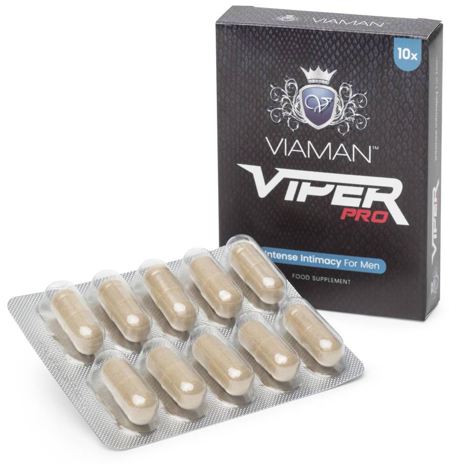 Viaman Viper Pro Intense Intimacy Supplements for Men (10 Capsules)