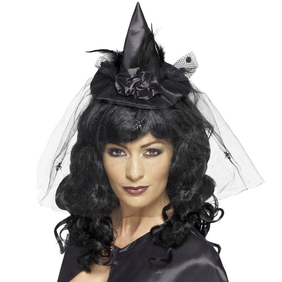 Fever Black Mini Witch Hat