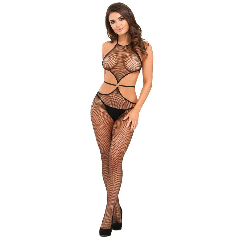 9d99208dd Lovehoney Black Fishnet Crotchless Cut-Out Bodystocking