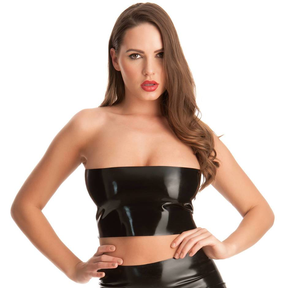 Top Palabra de Honor de Látex de Rubber Girl