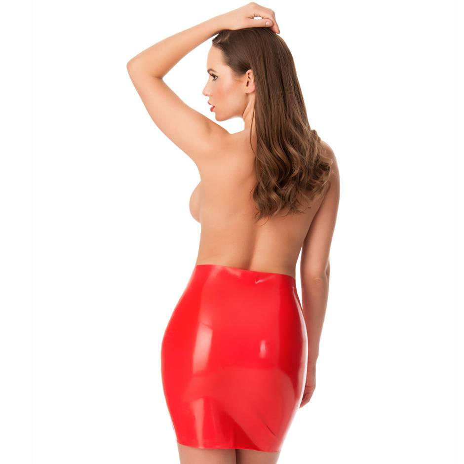 Rubber Girl Latex Retro High Waisted Mini Skirt