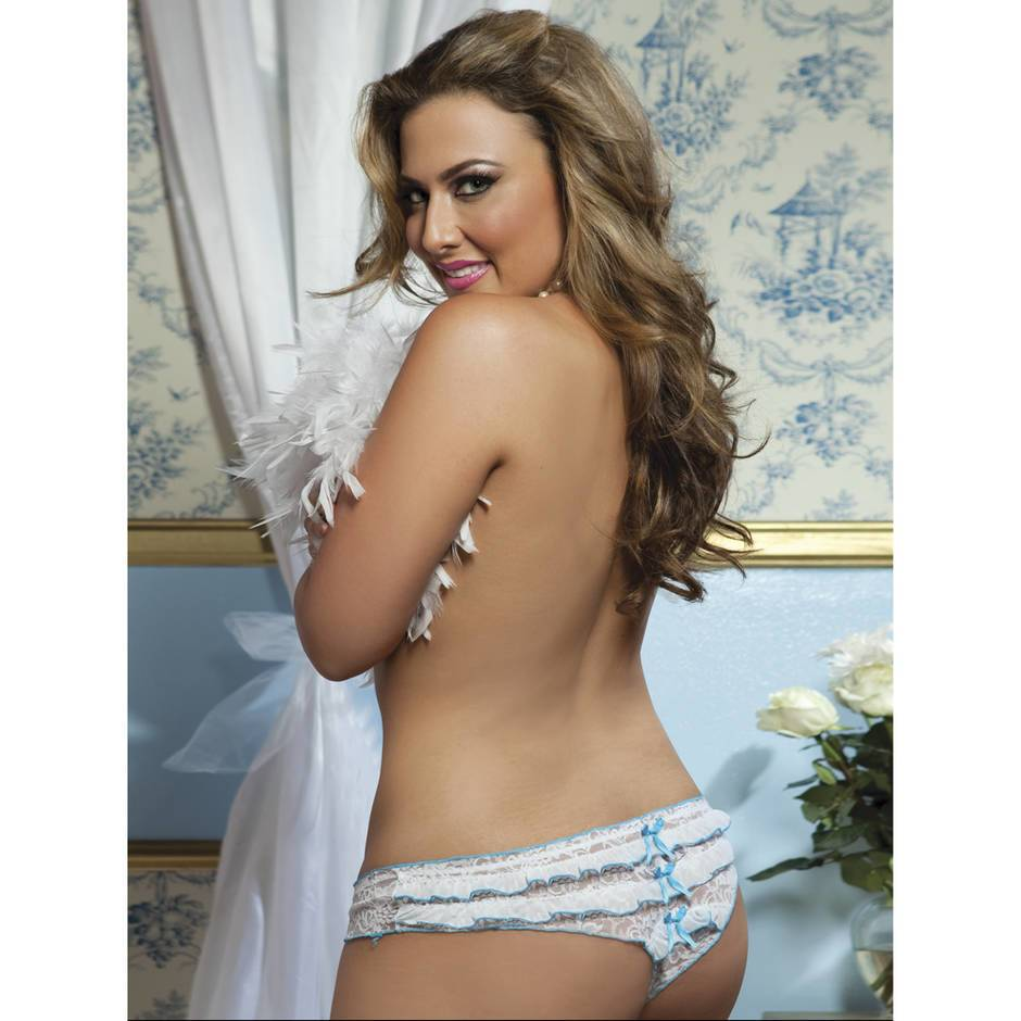 Seven 'til Midnight Plus Size Lace Ruffled Knickers