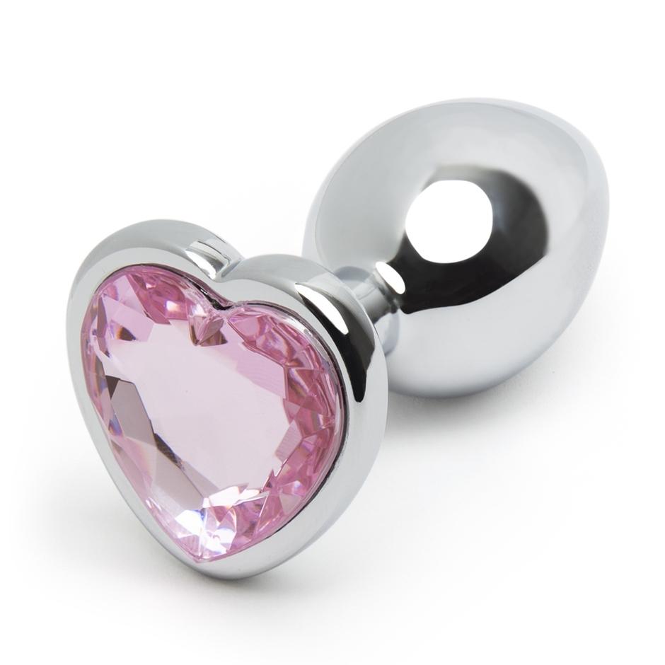 Lovehoney Jewelled Heart Metal Beginner's Butt Plug 2.5 Inch