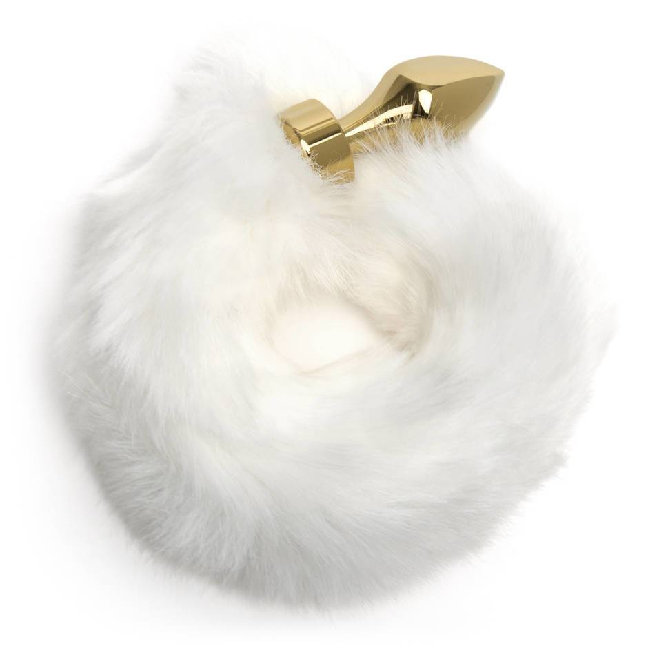 EasyToys Small Aluminum Faux Fur Arctic Fox Tail Butt Plug