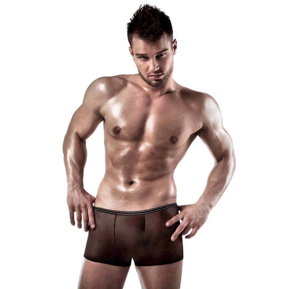 Passion Black Mesh Boxer Shorts