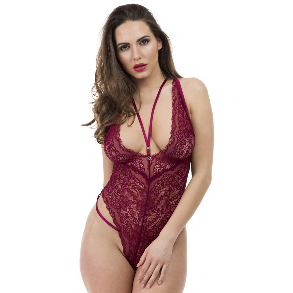 Lovehoney Late Night Liaison Wine Crotchless Lace Body