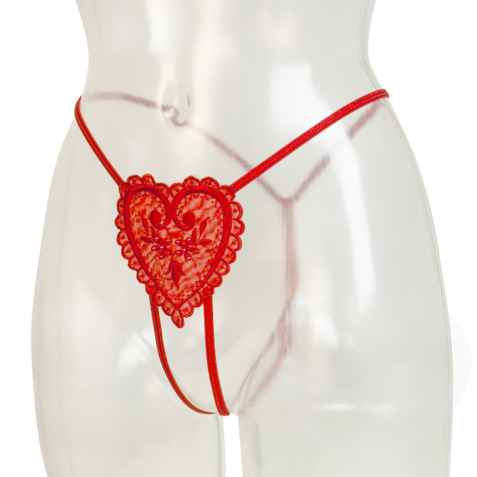 Cottelli Crotchless Heart Thong