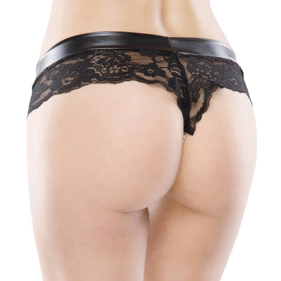 Coquette Darque Plus Size Stimulating Chain Knickers