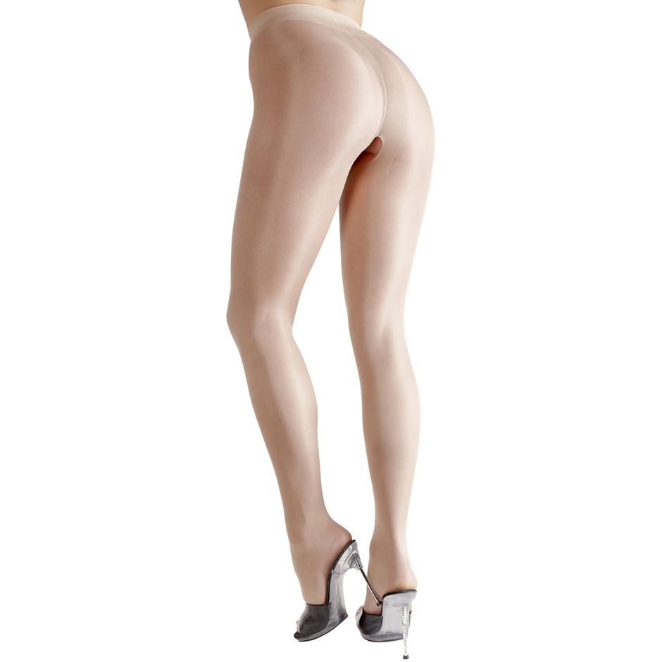 Cottelli Light Beige Crotchless Tights