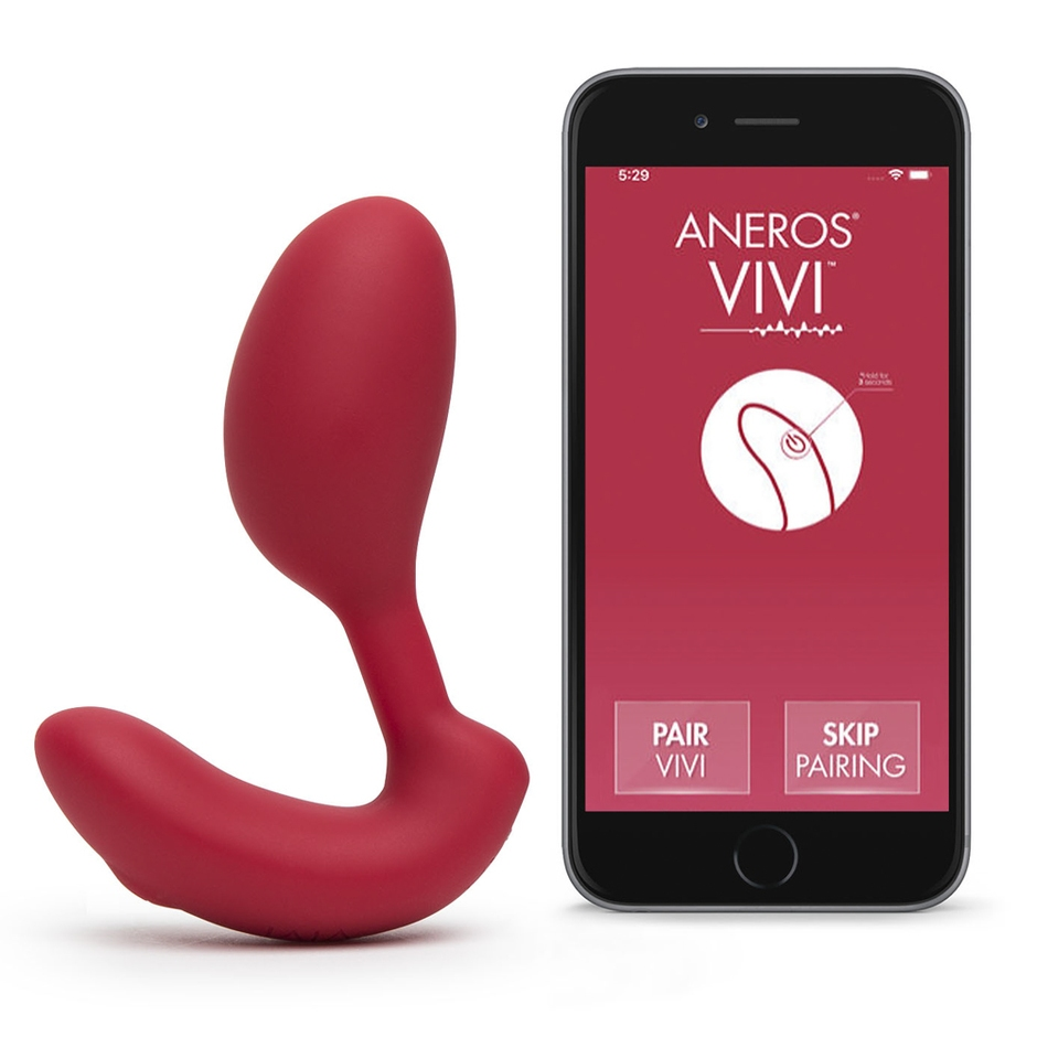 Aneros Vivi App Controlled Vibrating Kegel Exerciser with Clitoral Stimulator