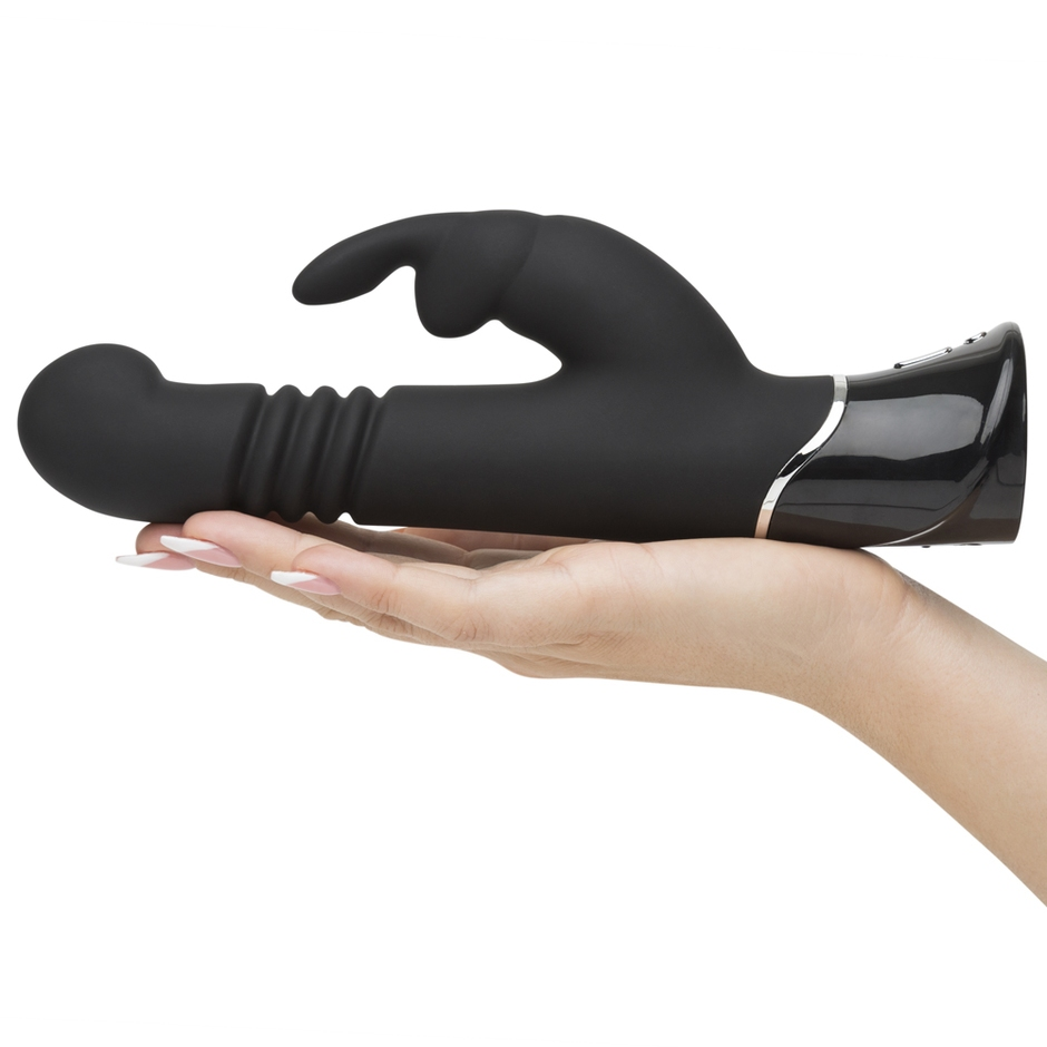 Greedy Girl Thrusting Rabbit Vibrator