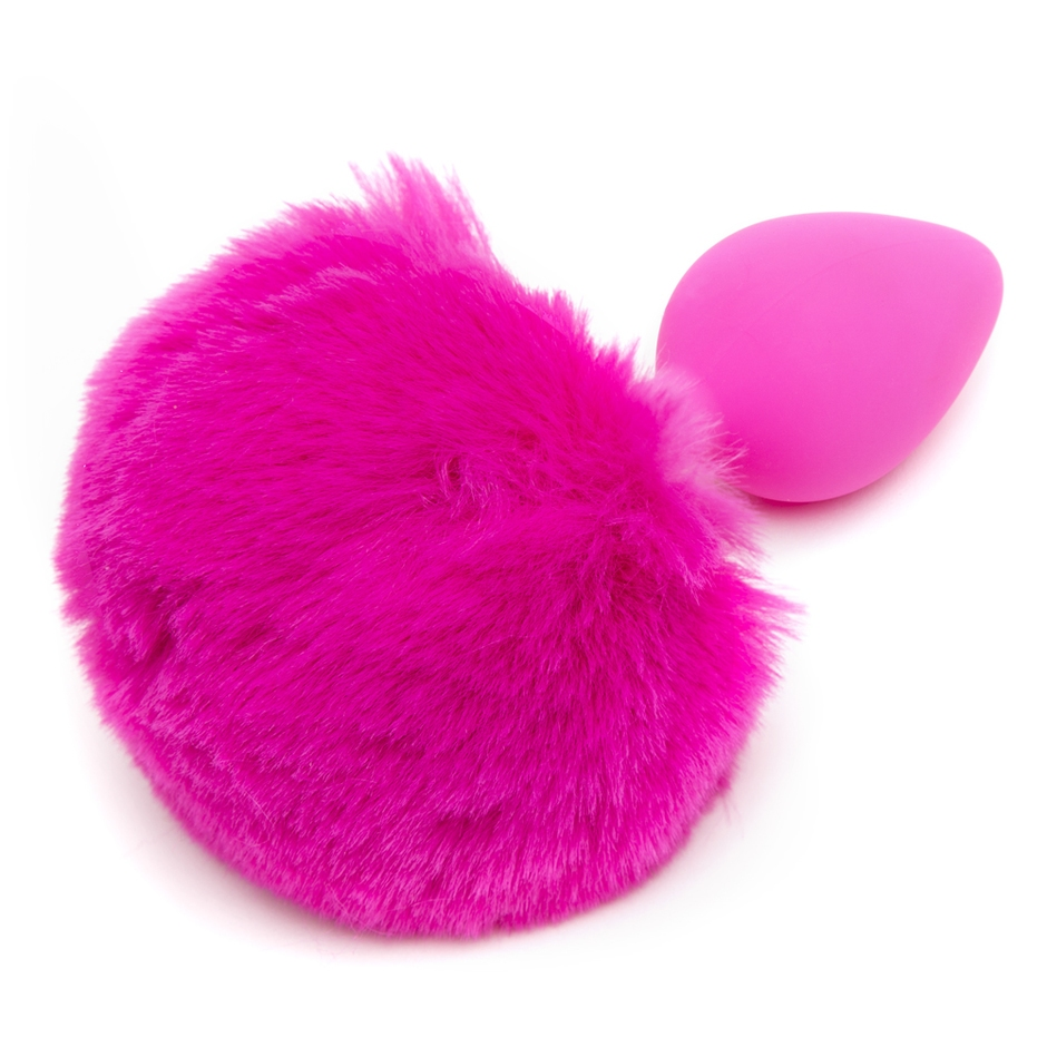 Playful Silicone Medium Bunny Tail Butt Plug