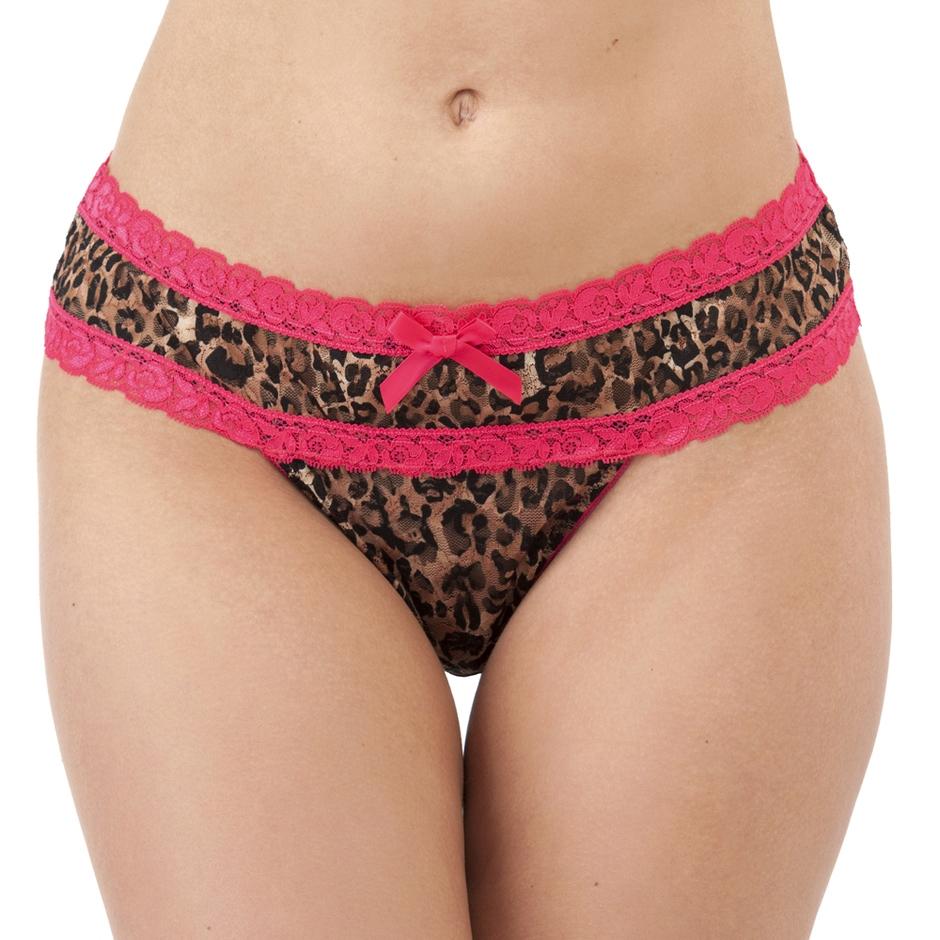 Lovehoney Flirty Leopard Print Lace Thong