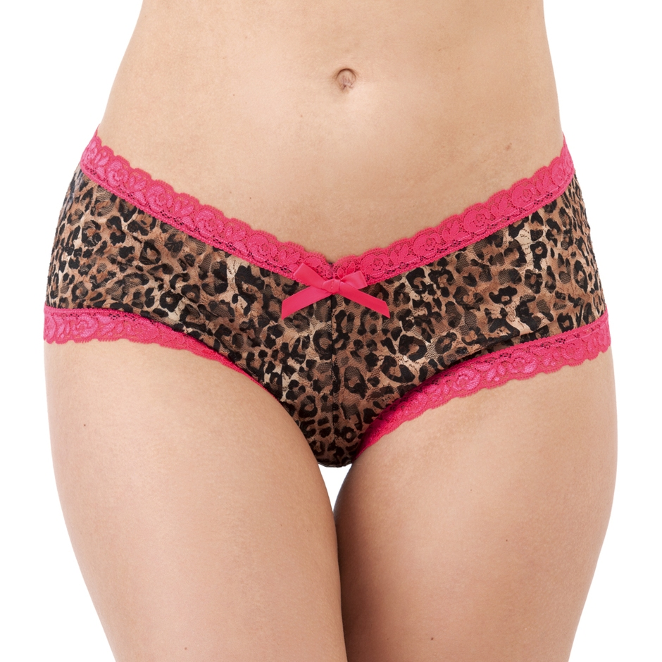 Lovehoney Flirty Leopard Print Lace Shorts