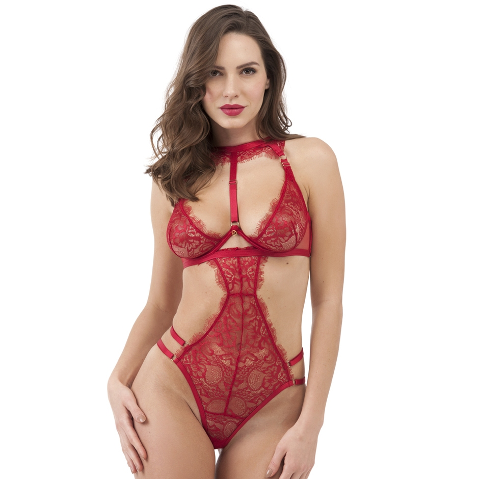 Lovehoney Midnight Mirage Red Lace Body