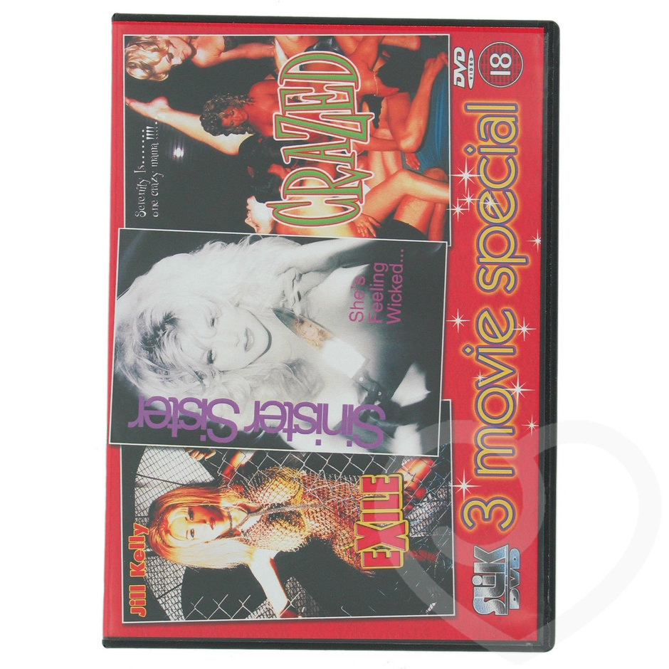 3 Movie Special Erotic DVD - Crazed Exile
