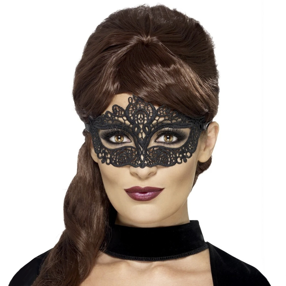 Fever Black Masquerade Lace Mask