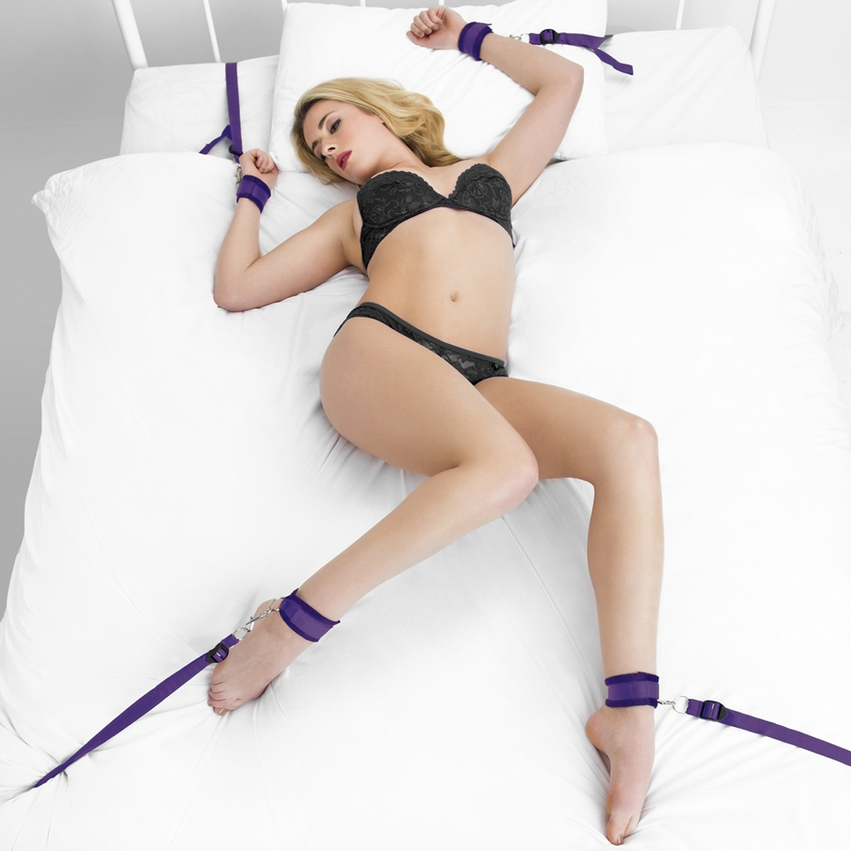 Bondage Boutique Purple Bound to Please Under Mattress Restraint