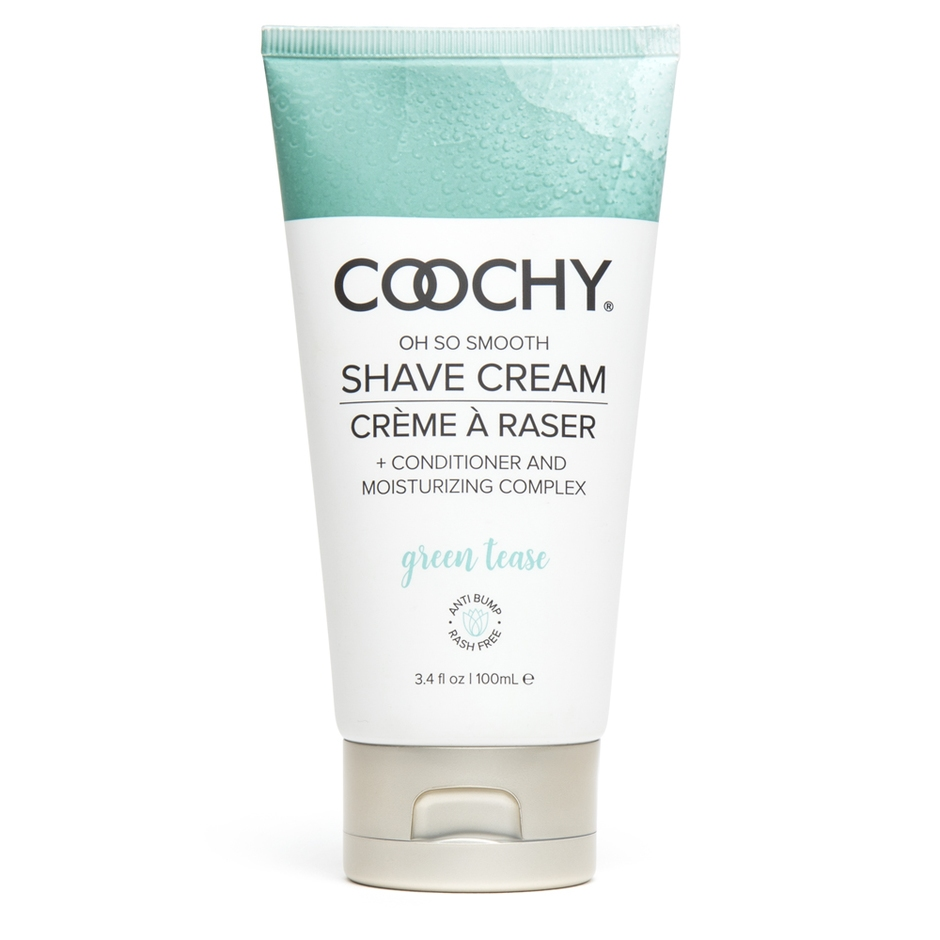 Coochy Green Tease Intimate Shaving Cream 3.4 fl oz