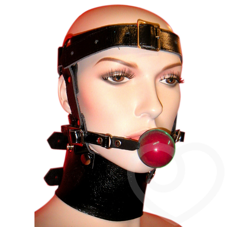 Leather Head Harness Ball Gag