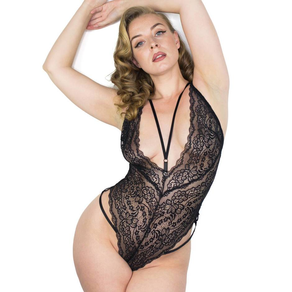 Lovehoney Late Night Liaison Black Crotchless Lace Body