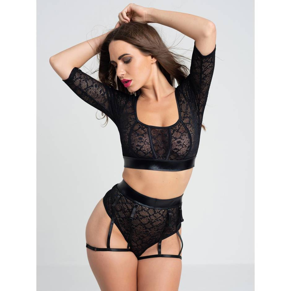 Lovehoney Fierce Serpentine Snakeskin Lace Top Set