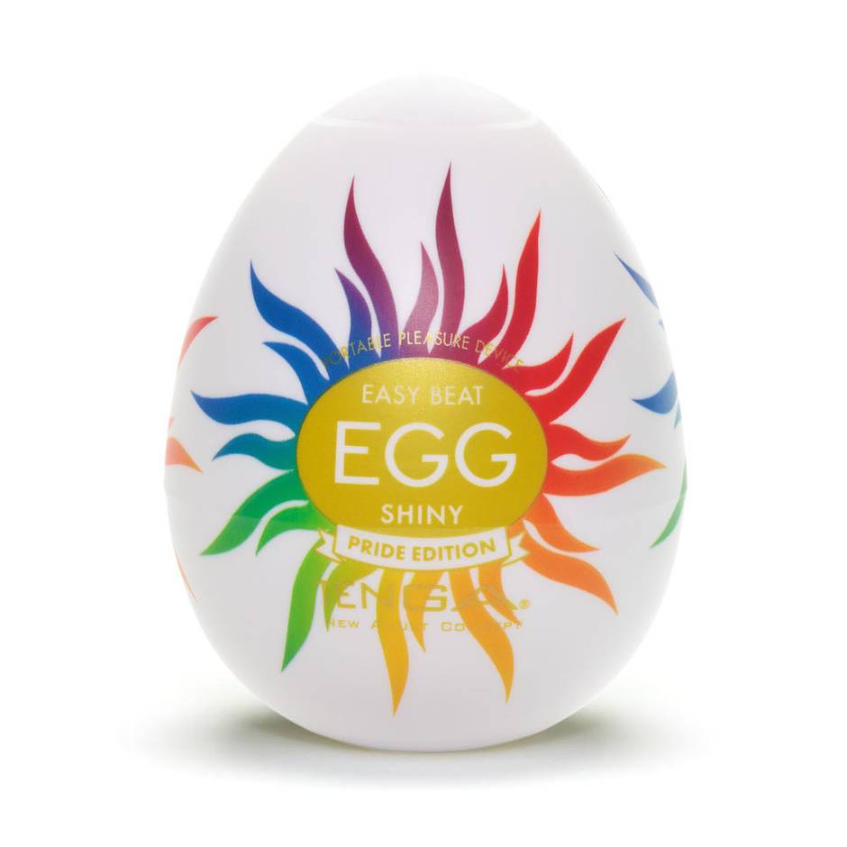 TENGA Egg Shiny Pride Edition Textured Male Masturbator