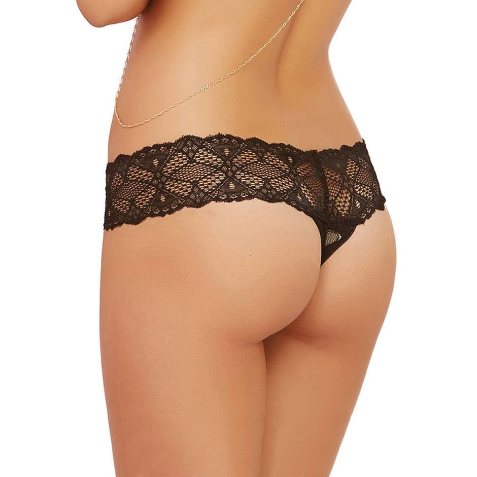String fendu dentelle style crochet noir, Seven 'til Midnight