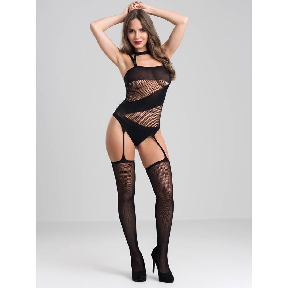 Lovehoney Asymmetric Fishnet Suspender Bodystocking