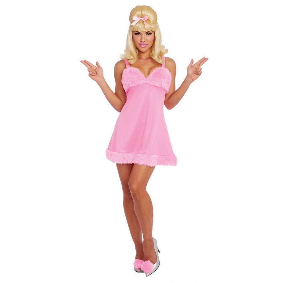 Dreamgirl Pink Femme Fatale Faux Fur Costume