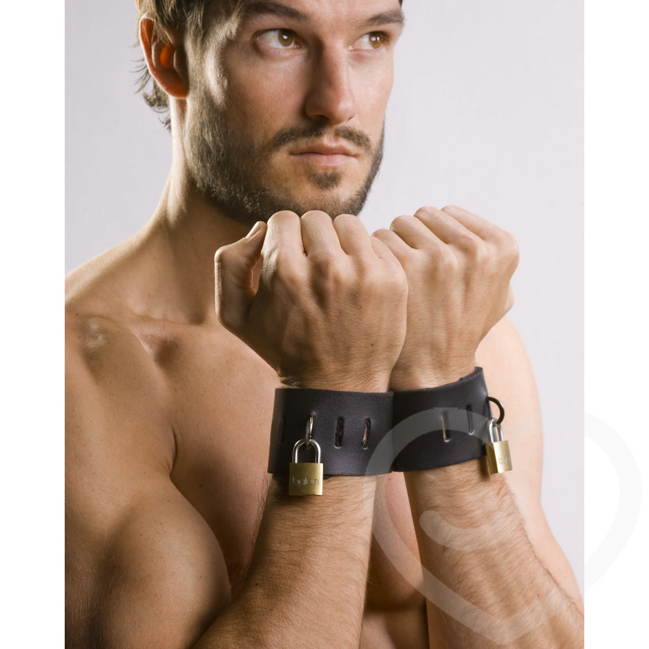 Spartacus Leather Locking Cuffs