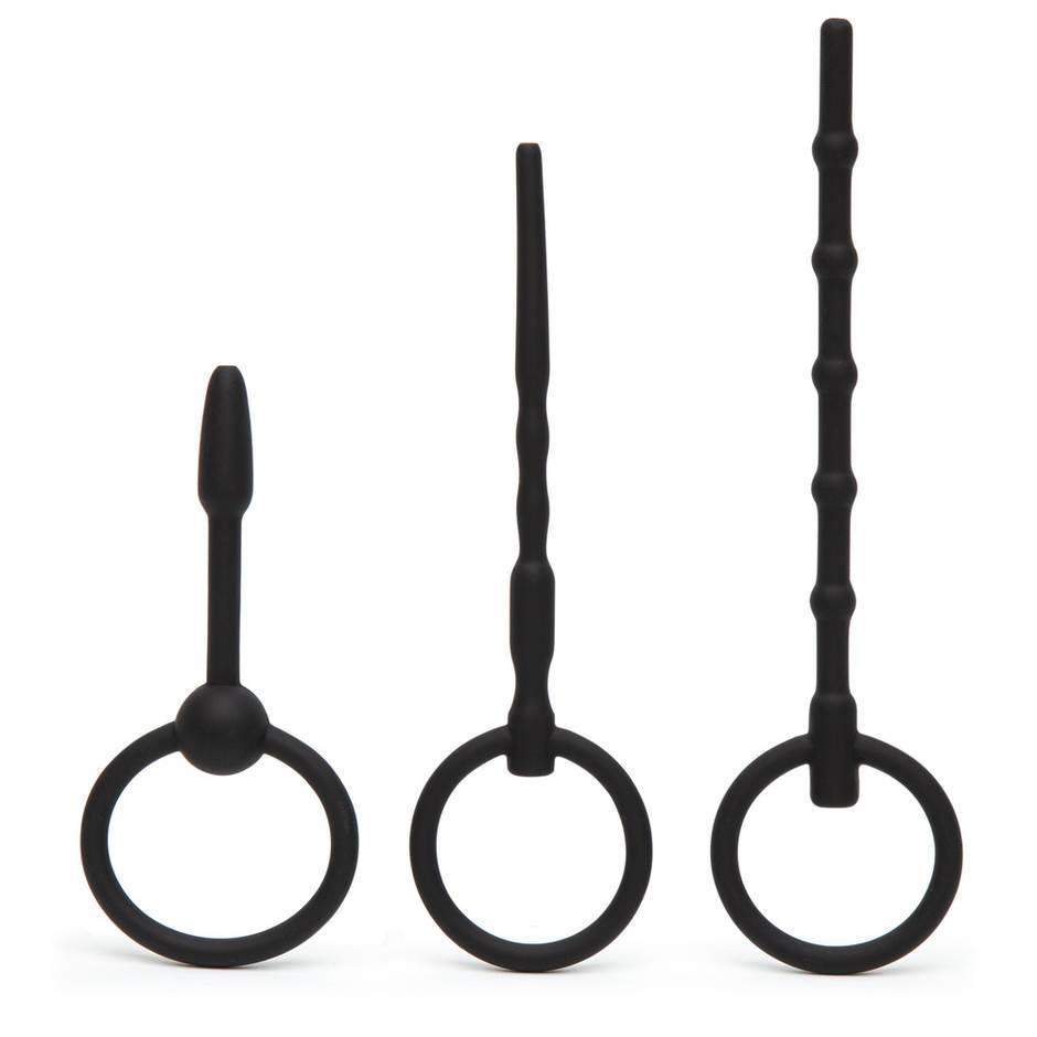 Ouch! Beginner's 3mm/5mm Silicone Hollow Urethral Plug Set (3 Piece)