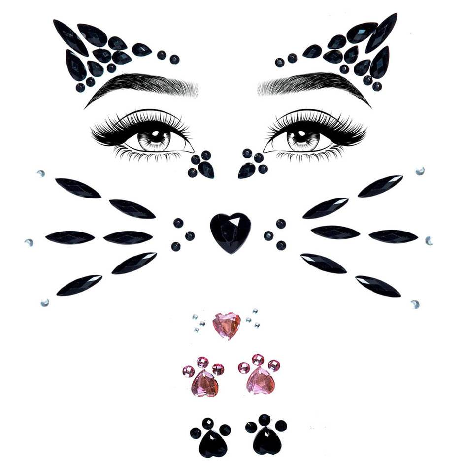Leg Avenue Cat Self-Adhesive Face Jewels