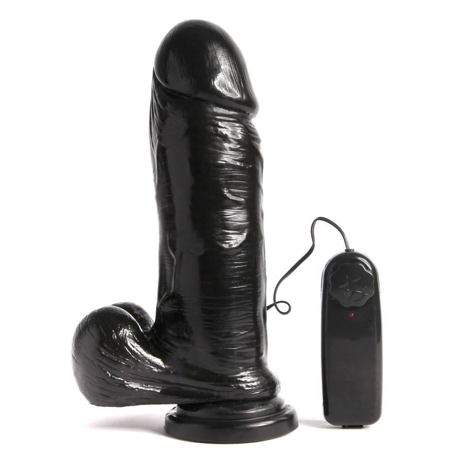 Si Novelties Extra Thick Vibrating 9 Inch Cock with Suction Cup