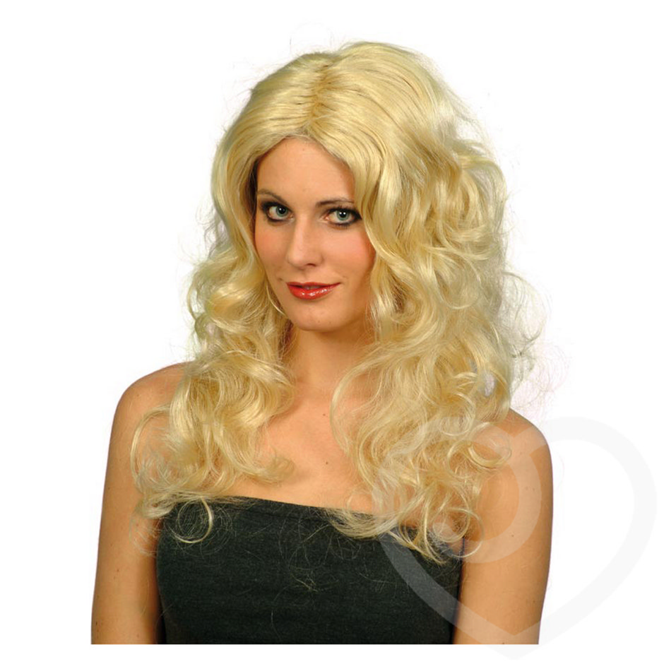 Glamour Blonde Long Curls Wig