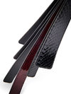 Paul Seville Black Snakeskin Viper Tongue Tawse