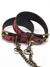 Paul Seville Red Snakeskin T-Harness with Posture Collar