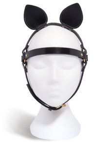 Fleet Ilya Black Patent Leather Cat Mask
