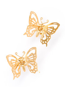 Alex Monroe Filigree Butterfly Gold-Plated Silver Nipple Clamps