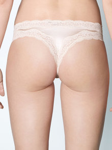 Stella McCartney Lingerie Clara Whispering Silk Thong