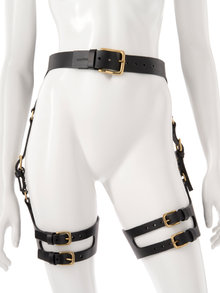Fleet Ilya Curved Leather Suspender Harness
