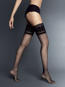 Veneziana Emozioni Sheer Hold ups with Deep Lace Tops