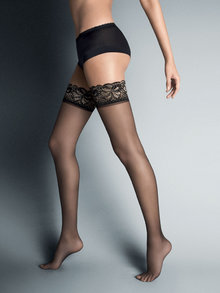 Veneziana Lurex Hold Ups with Lace Tops 15 Denier